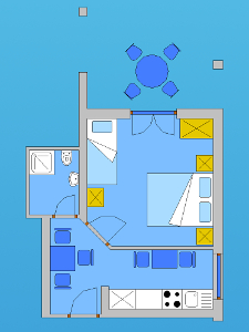 Ground plan of the apartment 1
