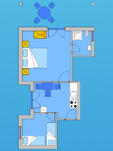 Ground plan of the apartment 2